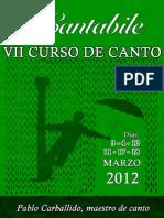 Curso Canto Cartel 2012