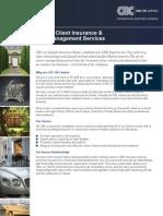 CBC Private Client Insurance Factsheet 01.12