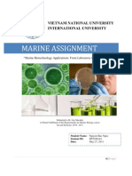 Marine Biotechnology Applications From Laboratory to Daily Life Report