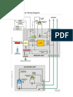 [SCHEMATICS_48EU]  Split Air Conditioner Wiring | Air Conditioning | Thermostat | Wiring Diagram Of Split A C |  | Scribd