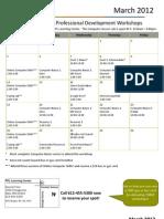 March 2012 Workshop Calendar