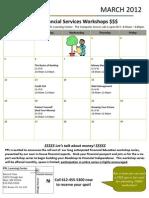 March 2012 Fin Serv Workshop Calendar