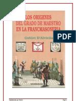 Los Origenes Del Grado de Maestro Goblet d Alviella