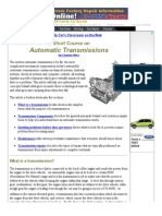 Automatic Transmissions a Short Course