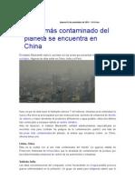 Contaminacion Ambiental Automotriz