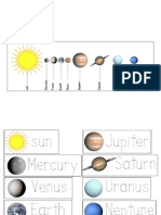 Planet Names and Order