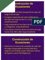 Construcción de Ecuaciones