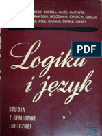 Logika i Język - Studia z Semiotyki Logicznej