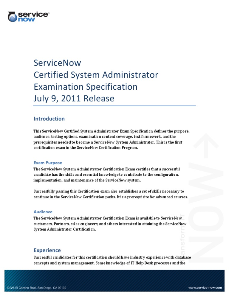 Exam service now professional certification test assessment 1betcityfo Gallery