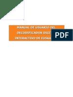 Manual Usuario Decodificador Interactivo de Euskaltel