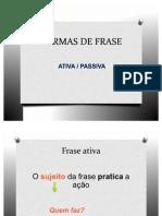 FORMAS DE FRASE