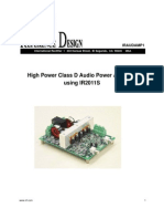 Iraudamp1_High Power Class D Audio Power Amplifier Using IR2011S