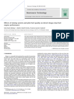 Effects of mixing system and pilot fuel quality on diesel–biogas dual fuel