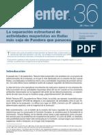 Nota Enter 36 - La separación estructural de actividades mayoristas en Italia