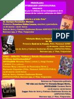 Calendario 8° aniversario ANFUCULTURA 12 -16  de marzo de 2012