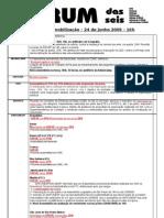 Forum Das Seis - Quadro de Assembleias - 24 de Junho de 2009 - 16h