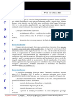 Comunicato N 22 Decreto Legge 29 Dicembre 2012 Milleproroghe Del 1 Marzo 2012