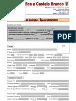 Ficha de Inscrição08-09