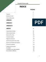 Español Avanzado I semestre 2012