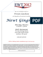 Newt Gingrich Jackson MS March 8 Invitation
