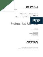 APHEX Aural Exciter 204 Manual