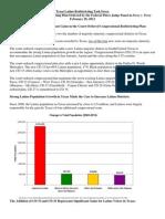 Latino Task Force Congressional Plan Fact Sheet