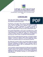 Comunicado ASADEDH sobre los últimos acontecimientos, 01/03/2012