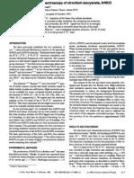 L.C. O'Brien and P.F. Bernath- High-resolution laser spectroscopy of strontium isocyanate, SrNCO