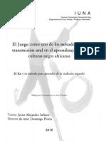 Tesis para la Licenciatura en Artes Visuales por Javier Alejandro Infante