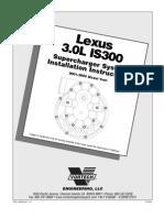 Vortech Super Charger Install 2001-2005 Lexus IS300 (4LA020-010v1.1)