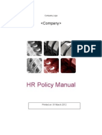 HR Policy Manual Template