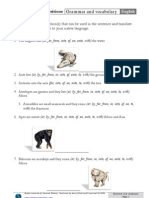 Animals and Prepositions
