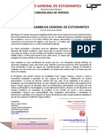 CGE A10-03-12 Comunicado de Prensa - Asamblea General de Estudiantes UPR-RP