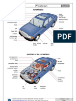 Car parts - picture dictionary
