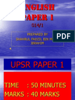Upsr Paper 1 Presentation 2011