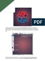 Buat Sebuah Dokumen Baru Dengan Ukuran 500 x 500 Px Lalu Dengan Menggunakan Gradient Bucket Tool Warnai Background Kita Seperti Gambar Dibawah Ini