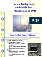 Historical Background of Islam From Mohammed to 1918