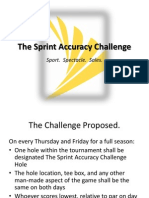 The Sprint Accuracy Challenge