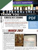 UNC Dance Marathon March 2012 Newsletter
