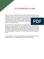 Vechicle Overspeed Alarm