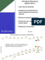 Indicadores educativos 2000 - 2011 INE