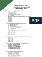 Kumpulan Soal Kimia 2009 - 2011