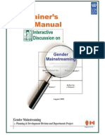 Gender Mainstreaming-Trainer's Manual