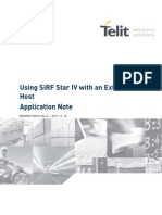 Telit Using SiRF STAR IV With an External Host Application Note r0