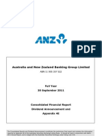 2011 ANZ Annual Results