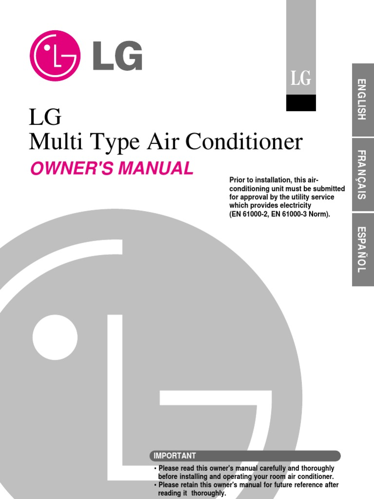 Owners Manual | Air Conditioning | Hvac
