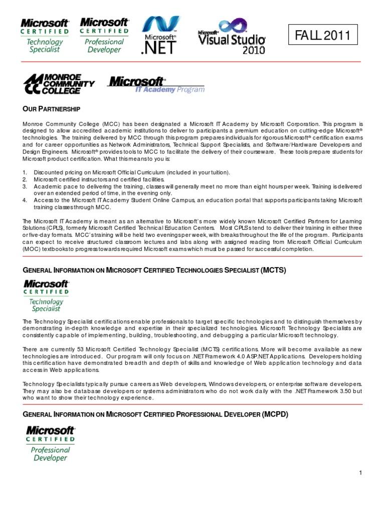 Mcts mcpd web windows communication foundation professional mcts mcpd web windows communication foundation professional certification 1betcityfo Gallery