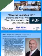 Reverse Logistics 101 - Mark Millar CILT HK 0212 FINAL Circ