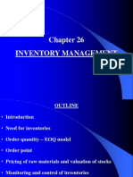 Chapter 29 Inventory Management