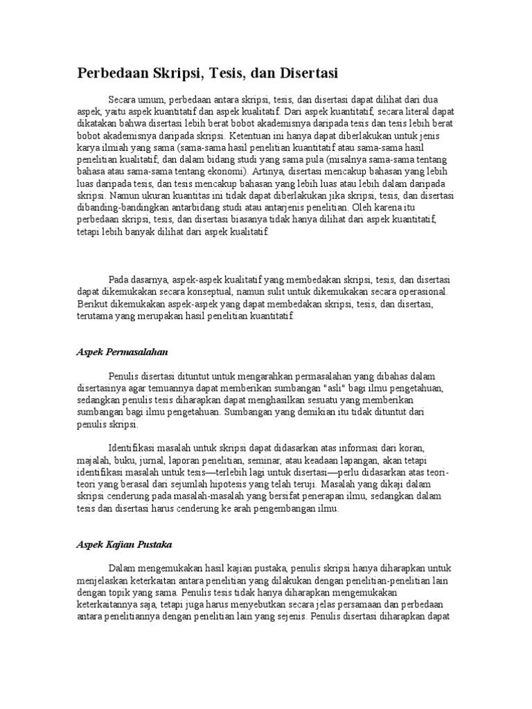 Perbedaan Skripsi Tesis Dan Disertai